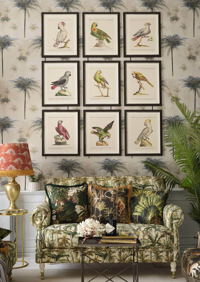 Cottagecore gallery wall picture frames wall art 2021 design trends