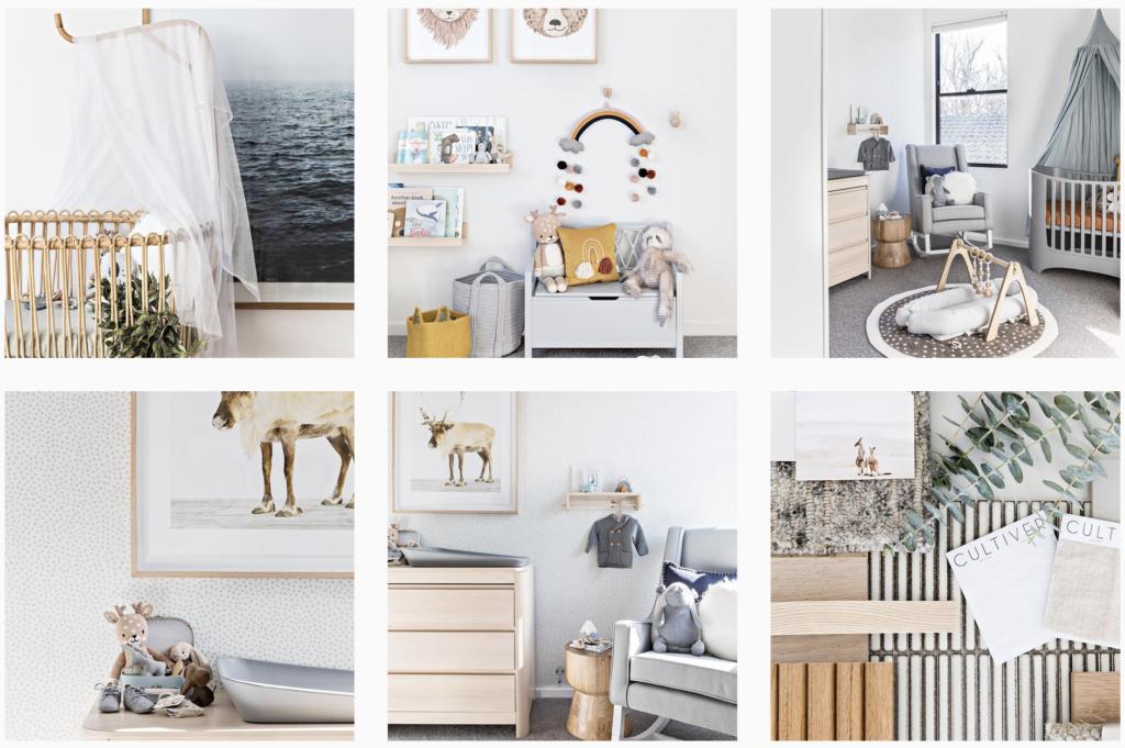 Interior design decor THESTABLES Instagram mood board