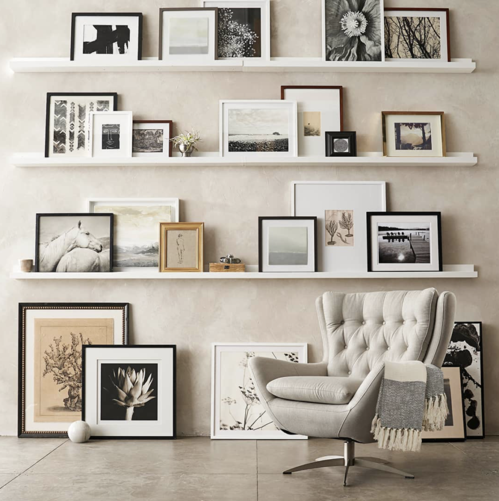 Image credit: Pottery Barn Stacked gallery wall