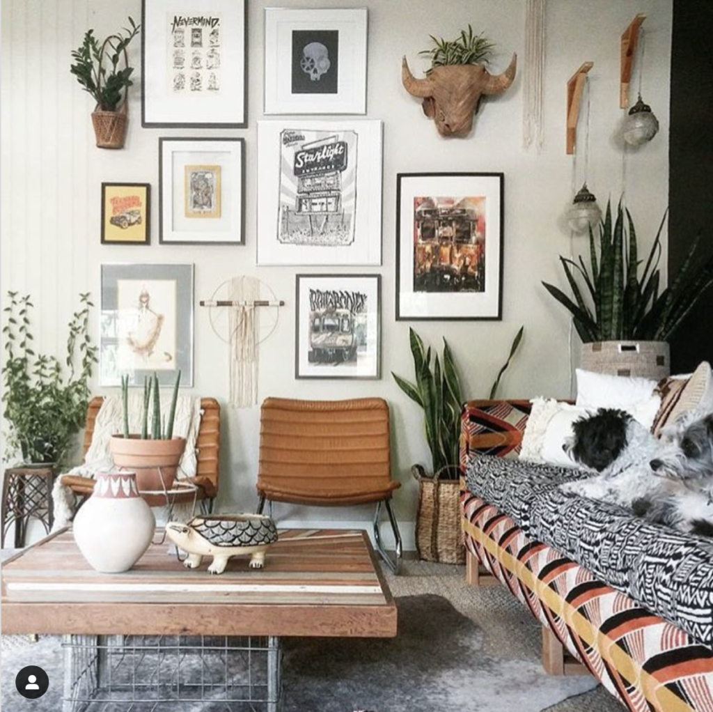 Image credit: Domino Mag - Instagram mixed media gallery wall