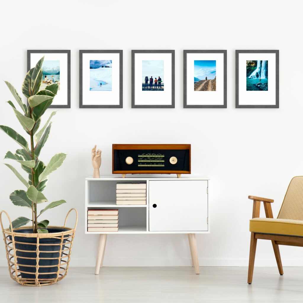 gallery wall layout photo series frames framed wall art framing