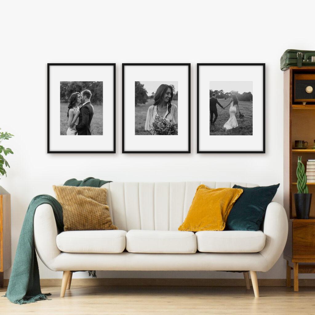 Wedding Photography Triptych Wedding framing frames
